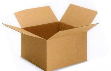 Simple, valvular, corrugated cardboard boxes